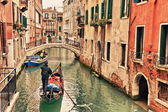 Gondola on canal in Venice — Stock Photo