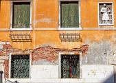 Detalj av byggnad i venedig — Stockfoto