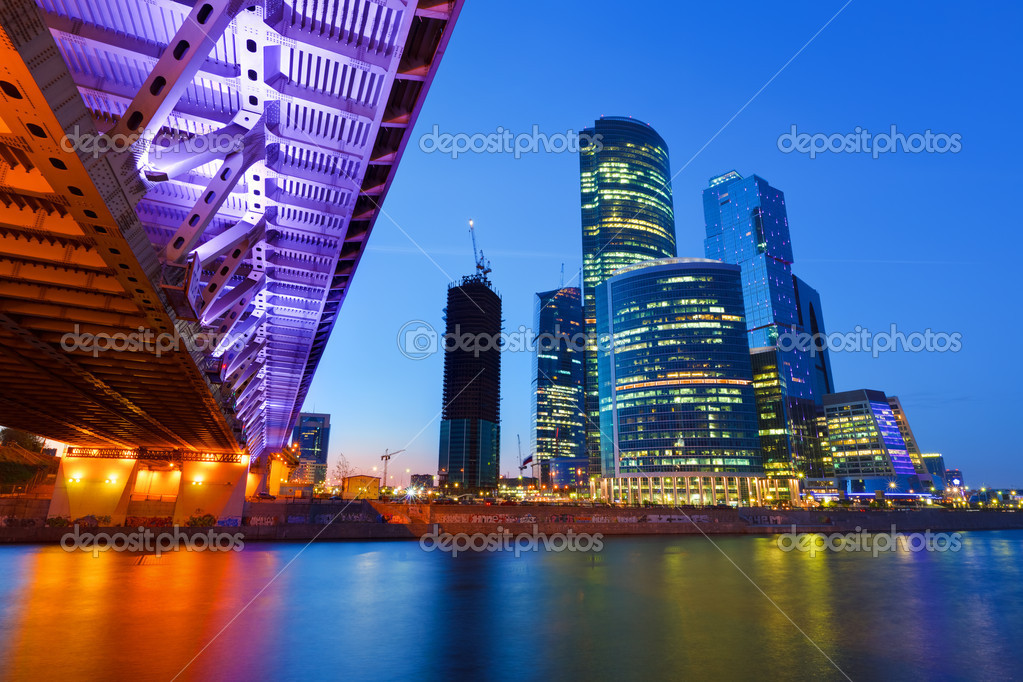 Moscow City at night — Stock Photo #6717299