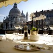 Stock Photo: Dinner In Venice