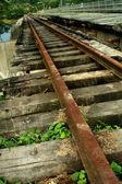 Oude trein tracks — Stockfoto