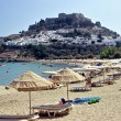 Lindos Beach, Rhodes - Stock Photo