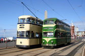 Blackpool Trams — Stock Photo