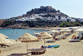 Lindos Beach, Rhodes — Stock Photo