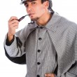 Stock Photo: Asian sherlock holmes