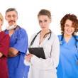 Six female an male doctors — Stock Photo
