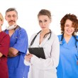 Stock Photo: Six female an male doctors