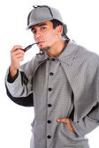 Asian sherlock holmes — Stock Photo