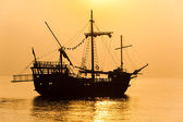Schooner silhouette — Stock Photo