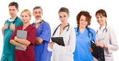 Six female an male doctors — Stock Photo