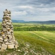 Stone cairn in Khakassia - Stock Photo