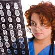 Female doctor with tomogram — Stock Photo