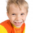 Smiling five-year-old boy — Stock Photo