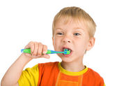 Boy cleans a teeth — Stock Photo