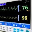 ICU cardiac monitor - Stock Photo