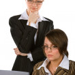 Two young beautiful businesswomen — Stock Photo #6096756