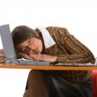 Sleeping young businesswoman — Stock Photo #6096758