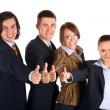 Successful young business team — Stock Photo