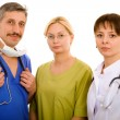 Doctor and his medical team — Stock Photo #6096900