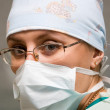 Surgeon woman in operation room — Stock Photo