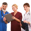 Smiley medical team — Stock Photo