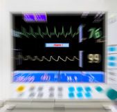 Blurred medical monitor — Stock Photo