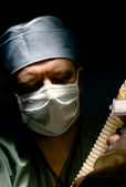 Anesthesiologist in contrast light — Stock Photo