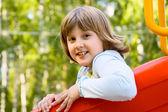 Smiley 10 år gammal flicka — Stockfoto