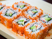 California sushi rolls — Stock Photo