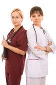 Two female doctors — Stock Photo