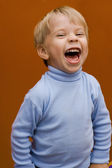 Happy laughing boy — Stock Photo