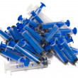 Exhausted syringes - Stock Photo