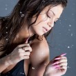 Royalty-Free Stock Photo: Romantic woman with water droplets