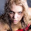 Expressive woman with water droplets — Stock Photo #6706637