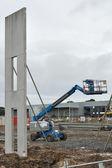 Wall panel and lift — Stock Photo