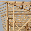 Stock Photo: Wooden house frame