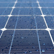 Solar panel with water - Stock Photo