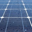 Stock Photo: Solar panel with water