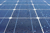 Solar panel with water — Stock Photo