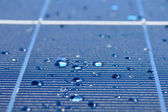 Drops of water on solar panel — Stock Photo