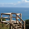 Wooden lookout point - Stock Photo