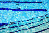 Blue lines in pool — Stock Photo