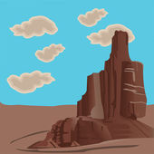 Mountain in a desert landskape — Stock Photo
