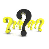 Some shiny question mark in red — Stock Photo