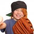 Baseball Girl — Stock Photo