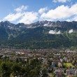 Stock Photo: Panoramic view of city of Innsbruck and Alps