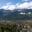 Panoramic view of the city of Innsbruck and the Alps — Stock Photo