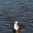 Stock Photo: Fishing man