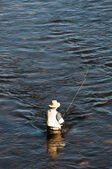 Fishing man — Stock Photo