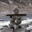 Little stone totem — Stock fotografie